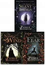 Kingkiller Chronicle Patrick Rothfuss Collection 3 Books Set (The Wise Man's Fear, The Slow Regard of Silent Things, The Name of the Wind) Photo