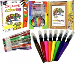 Kids School Creative Activity Colouring Collection Box Set Relaxing, Anti-Stress Photo