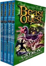Beast Quest Series 21 Collection 4 Books Set Pack By Adam Blade by Adam Blade