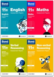 Bond 11+ plus Assessment Papers English Maths Verbal & Non Verbal 7-8 Years Pack of 4 Books set Photo