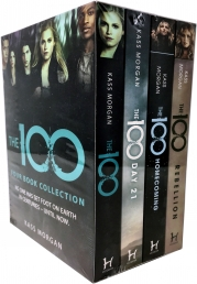 Kass Morgan 100 Series 4 Books Collection Set - The 100, The 100 Day 21, Homecoming, Rebellion Photo