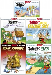 Asterix Series 7 Collection 5 Books Set (Book 31-35) (The Actress, the Class Act, Falling Sky, Asterix and Obelix's Birthday, Asterix and the Picts) Photo