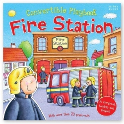 Miles Kelly Convertible Fire Station 3 in 1 Storybook Building and Playmat Photo