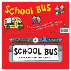 Miles Kelly Convertible School Bus 3 in 1 Book Playmat and Toy for Children Photo