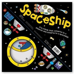 Miles Kelly Convertible SpaceShip 3 in 1 Book Playmat and Toy for Children by Claire Philip