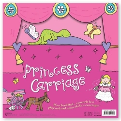 Miles Kelly Convertible Princess Carriage 3 in 1 Book Playmat and Toy for Girls Photo
