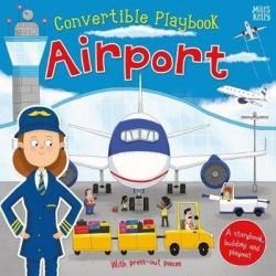 Miles Kelly Convertible Airport 3 in 1 Book Playmat and Toy for Children Photo