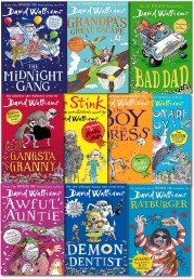 David Walliams 10 Books Collection Set (Billionaire Boy, Mr Stink, The Boy in the Dress, Gansta Granny, Rat burger, Demon Dentist, Awful Auntie..) by David Walliams