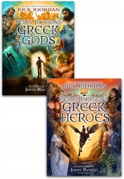 Percy Jackson's Greek Myths Collection Rick Riordan 2 Books Set Pack HB Photo