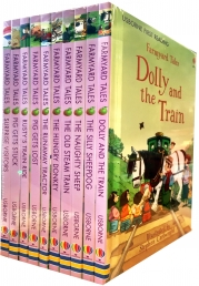 Usborne First Reading Farmyard Tales Collection 10 Books Set Dolly and the Train The Silly Sheepdog The Naughty Sheep The Old Steam Train by Heather Amery