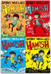 Danny Wallace Hamish Collection 4 Books Set (Hamish and the WorldStoppers, Hamish and the Neverpeople, Hamish and the GravityBurp, Baby Boom) Photo