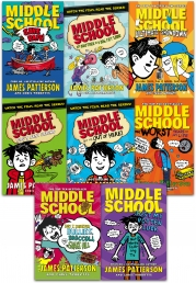 James Patterson Middle School Collection 8 Books Set Photo