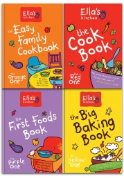 Ella's Kitchen Collection 4 Books Set (The First Foods Book The Purple One, The Easy Family Cookbook, The Cookbook The Red One, The Big Baking Book) Photo