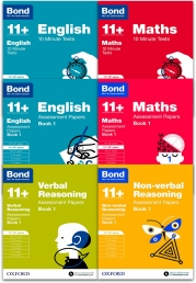 Bond 11+ Assessment Papers, English, Maths, Verbal & Non Verbal 6 Books Collection Set Ages 11-12 years Photo
