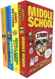 James Patterson Middle School I Funny Collection 4 Books Set Photo