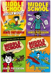 James Patterson Middle School Series 2 Collection 4 Books Set Photo