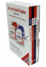 Life in the United Kingdom The British Citizenship Test 4 Books Collection Box Set Photo