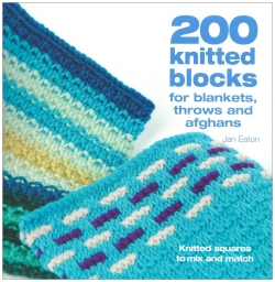 200 knitted blocks for blankets, throws and afghans Photo