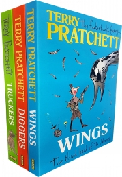 Terry Pratchett The Nomes Collection 3 Books Set (Truckers, Diggers, Wings) (The Bromeliad Trilogy) Photo
