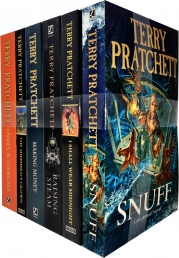 Discworld Novel Series 8 Terry Pratchett Collection 6 Books Set (Book 36-41) (Making Money, Unseen Academicals, I Shall Wear Midnight, Snuff) Photo