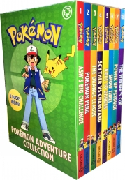 Pokemon Adventure Collection 8 Books Box Set (Ash Big Challenge, Pokemon Peril, The Oragne League, Scyther VS Charizard, Race to Danger, Show time) by Pokémon