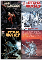 Star Wars 4 Books Collection Set Poe Dameron Legend Found Yodas Secret War Out Among The Stars The Ashes of Jedha by Salvador Larroca