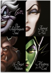 Disney Villain Tales Collection 4 Books Set By Serena Valentino (Snow White, Sleeping Beauty, Beauty and the Beast, Little Mermaid)c Photo