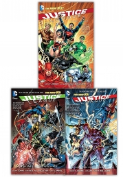 Justice League 3 Books Collection Set (Origin, The Villain's Journey, Throne of Atlantis) Photo