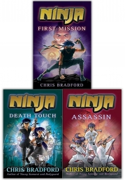Chris Bradford Ninja Trilogy 3 Books Collection Set - First Mission, Death Touch, Assassin by Chris Bradford