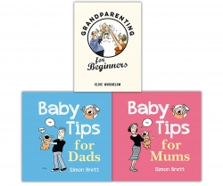 Baby Parenting 3 Books Collection Set (Baby Tips For Dads, Baby Tips For Mums, Grandparenting For Beginners) Photo