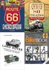 Transport References Book Collection, Great Motorcycle Tours of Europe, Reeds PBO Small Craft Almanac 2019, DVSA Theory Test, Ship Building, Sailing, Aviation, Bike Book: Complete Bicycle Maintenance, Route 66, Land Rover: The Story of the Car that Conquered the World, Around India in 80 Trains