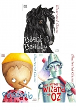Miles Kelly Illustrated Classics 3 Books Set Deluxe Covers Series 1 Black Beauty, Pinocchio, The Wonderful Wizard of Oz by Anna Sewell, Frank L. Baum, Calo Collodi