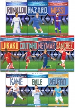 Ultimate Football Heroes Collection 10 Books Set Kane Neymar Ronaldo Hazard Lukaku Messi Bale Aguero Coutinho Shanchez by Matt Oldfield, Tom Oldfield
