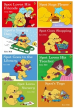 Spot Story Collection 8 Books Set Pack by Eric Hill - Spot Loves Nursery, Spot Goes Shopping, Spot Toys, Spot Loves his Teacher, Spot Goes to the Li by Eric Hill