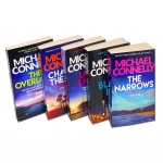 Michael Connelly 5 Books Set Collection Set - The Black Ice, The Narrows, The Overlook, Chasing the Dime, Lost Light by Michael Connelly