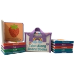 Early Learning Take Along Board Books Set of 10 in Case Childrens Library by Lake Press