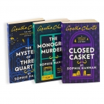 Agatha Christie Hercule Poirot Mysteries 3 Books Collection Set - The Monogram Murders, Closed Casket, Mystery of Three Quarters by Sophie Hannah