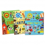 My Peekaboo Lift The Flap Library 3 Books Collection Box Set (Things That Go, Animals & Farm) by Jonny Marx