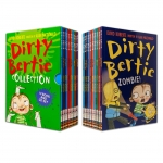 Dirty Bertie Collection 10 Books Box Set with CDs by David Roberts (Zombie!, Pirate!, Rats!, Fame!, Smash!, Horror!, Jackpot!, Aliens!, Scream!...) by David Roberts