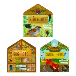 A Clover Robin Book of Nature Series 3 Books Lift-the-flap Collection Set (Bird House, Bug Hotel & Animal Homes) by Clover Robin