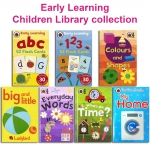 Children's Early Reading Learning Library 7 Collection Books Box Set NEW ABC 123 by  Ladybird (Author), Mark Airs  (Illustrator)
