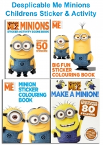 Despicable Me Minions Childrens Sticker & Activity 4 Book Collection Set by Despicable Me 2