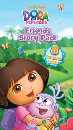 Dora the Explorer Fold-out Folder with 8 Mini Books Set Collection Friends Story by Nickelodeon