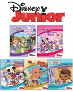 Disney Junior, Playtime, Stories For Kids, 5 Books Collection, Box Set, Including Stickers, (Mickey Minnie, Doc Macstuffins, Sofia the First, Jake) by Disney