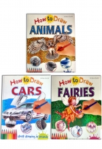 Miles Kelly How to Draw Picture Books Collection 6 Books Set Animal, Bugs, Cars by Miles Kelly