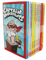 Captain Underpants Children Collection 10 Books Set by Dav Pilkey