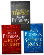 The Elenium Trilogy Collection David Eddings 3 Books Set (The Diamond Throne, The Ruby Knight, The Sapphire Rose) by David Eddings