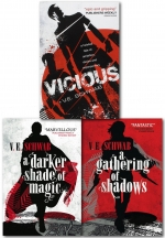 A Darker Shade of Magic 3 Books Collection Set (A Darker Shade of Magic, A Gathering of Shadows, Vicious) by V. E. Schwab