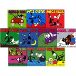 Meg and Mog Collection 10 Children Pictures Books Box Gift Set Pack by Helen Nicoll and Jan Pienkowski