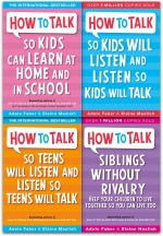 How to Talk So Kids and Teens Will Listen Collection Adele Faber 4 Books Set (New Cover) by Adele Faber, Elaine Mazlish